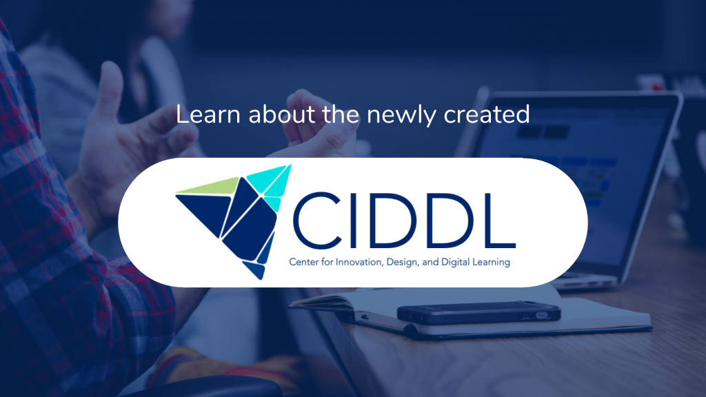 """Tile shows text """"Learn about the newly created CIDDL Center"""""""