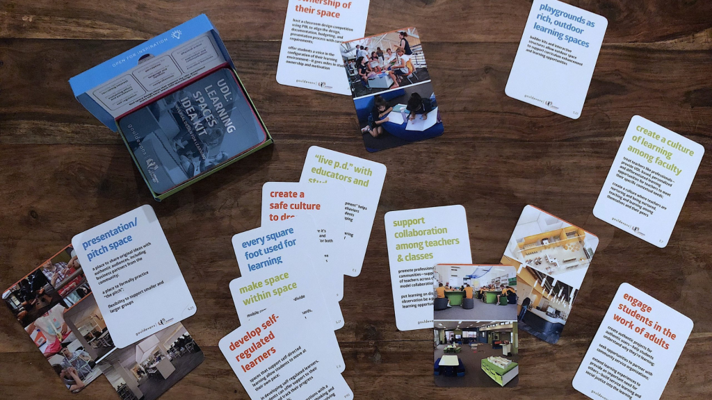 Image shows cards from the UDL Deck of Spaces.