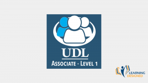 Image shows the badge for the UDL Associate Level 1 Credential