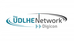 Image shows the logo for the UDLHE Network Digicon