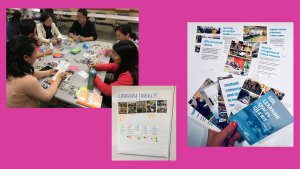 Collage of images show educators using the UDL Learning Spaces Idea Kits