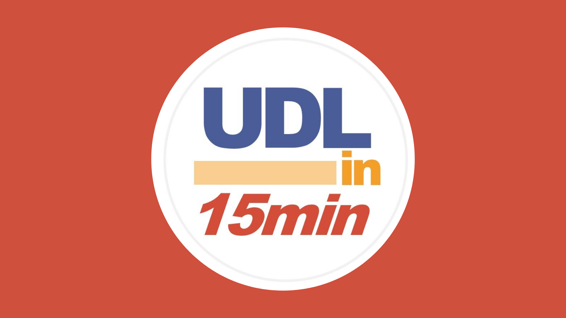 Image shows logo for UDL in 15 Minutes podcast